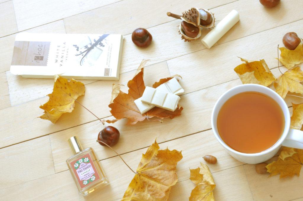 Podzimní radosti s vůní vanilky: toaletní voda, balzám na rty a bílá čokoláda!!
